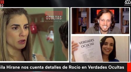 #DesdeLaCasa Camila Hirane muestra los libretos de Verdades Ocultas