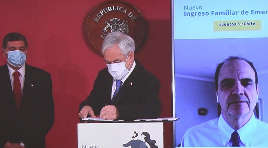 Presidente Piñera confirma que el Ingreso Familiar de Emergencia se extenderá hasta agosto