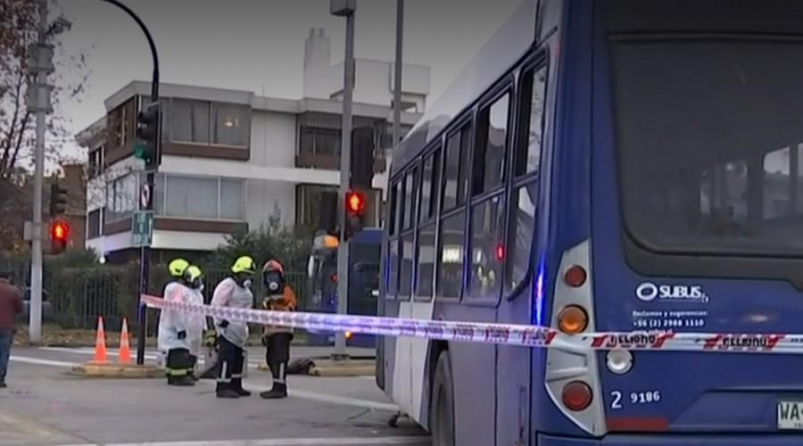 Peatona murió atropellada por bus del Transantiago en Las Condes