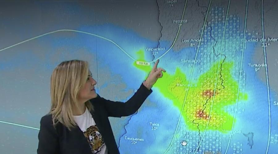 Michelle Adam anuncia lluvia para los próximos días en la zona central del país