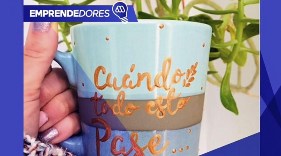 Pinceladas de locura en Emprendedores Mega: Macarena enfrenta la fibromialgia pintando tazas y platos