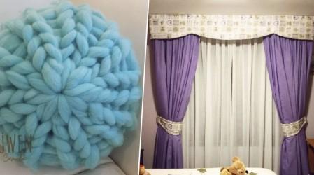 Desde cojines con lana natural a cortinas a medida: Los emprendimientos destacados de decoración