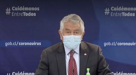 Ministro Paris informa que positividad de exámentes PCR ha bajado a 19%