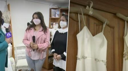 Familia de La Florida teme que su pyme de vestidos de novia quiebre por la pandemia