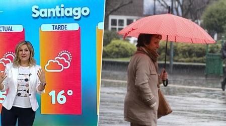 Luvias para el domingo en Santiago y siguen las precipitaciones en el sur del país