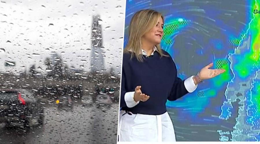 Michelle anuncia que lloverá todo el día en Santiago y zona centro sur: Revisa el pronóstico del tiempo