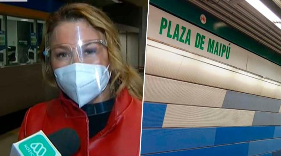 Este martes se realizó la reapertura de la estación Plaza de Maipú después de casi diez meses