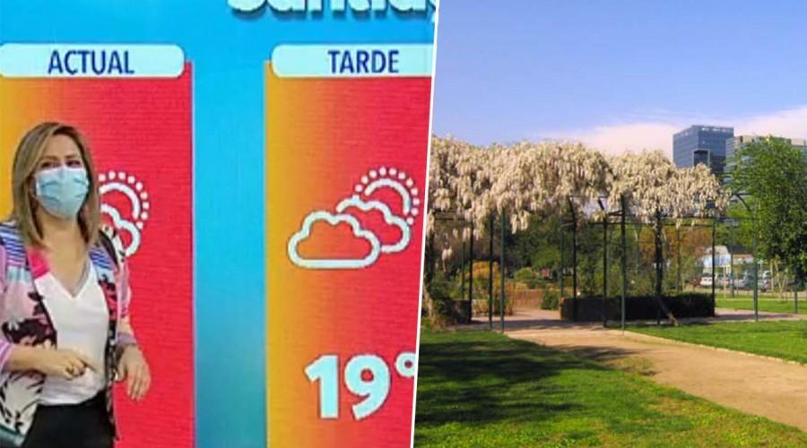 Michelle Adam anuncia que el fin de semana lloverá en el sur y el centro se mantendrá con altas temperaturas
