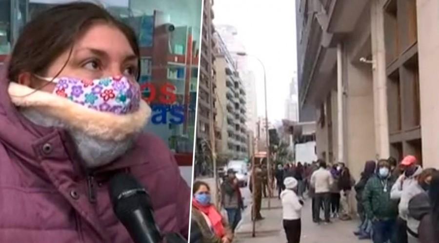 Problemas con el 10%: Personas hacen filas afuera de las sucursales de las AFP por retención de fondos