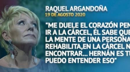 """Raquel Argandoña por Nano Calderón: """"El papá quiere secar a su hijo en la cárcel"""""""