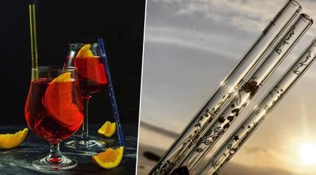 """Reutilizables e higiénicas: """"B Glass Chile"""" presenta su colección de bombillas de vidrio"""