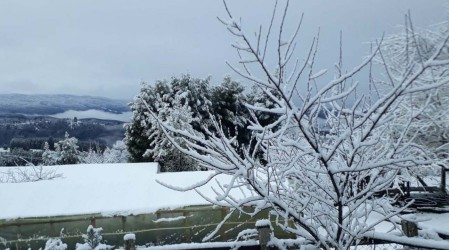 Intensa nevazón en Osorno por sistema frontal en la zona