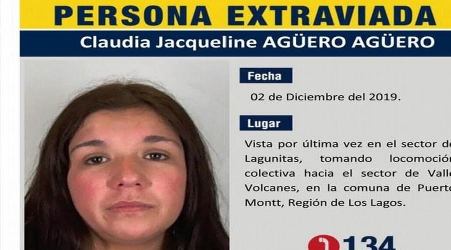 Hallan osamentas en el lugar donde se buscaba a Claudia Agüero en Puerto Montt