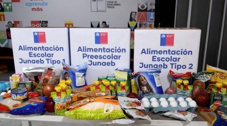 Junaeb mantendrá entrega de cajas de alimentación