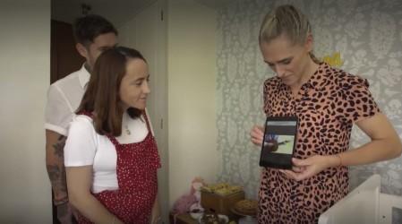 Virginia de María preparó un bello Baby Shower y cocinó medialunas rellenas