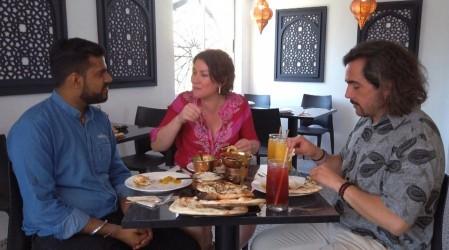 Koke Santa Ana y Javiera Contador exploraron los sabores de la India