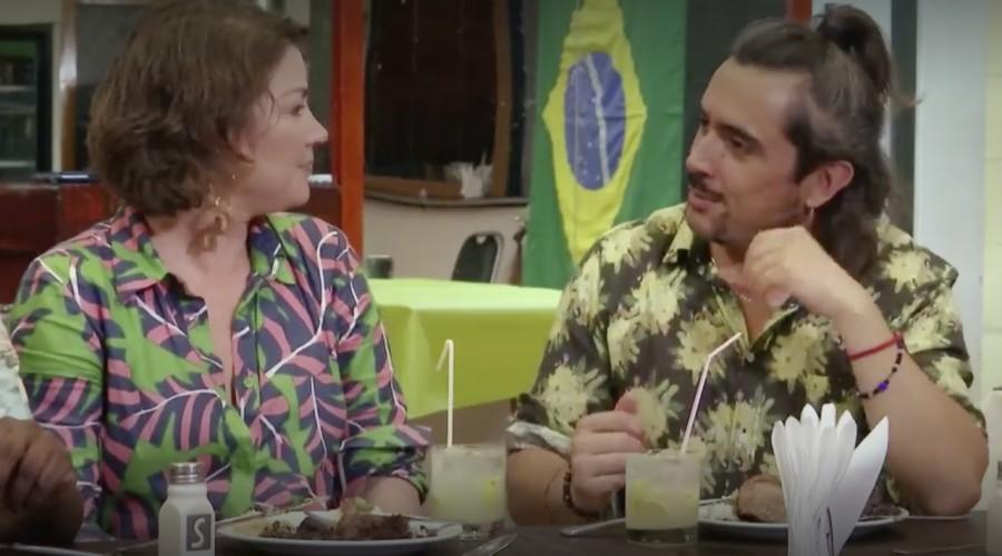 Koke Santa Ana y Javiera Contador son conquistados por los sabores de Brasil