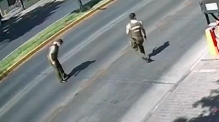 Confusa persecución en Providencia: Carabinero fue herido a bala por compañero y otro atropellado por guardia