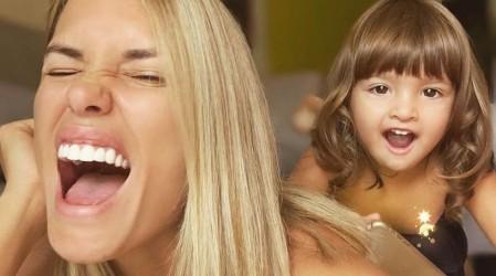 Gala Caldirola es duramente criticada tras publicar foto dándole un beso en la boca a su hija