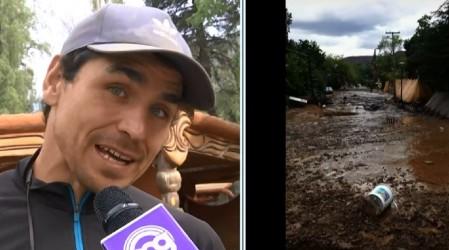 """""""Estamos todos super preocupados"""": Pangal y vecinos temen nuevo aluvión en Cajón del Maipo"""