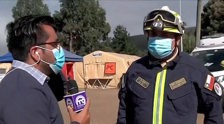 """Caso Tomás Bravo: Jefe de Unidad de Bomberos indica que terreno de búsqueda """"está alterado en un 100%"""""""