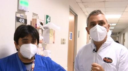 José Miguel Viñuela conoció la dura realidad de la UCI del hospital clínico de la Universidad Católica
