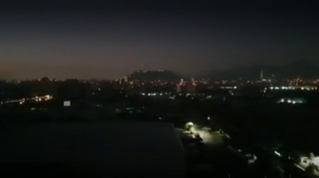 Reportan masivo corte de luz en distintas comunas de la Región Metropolitana