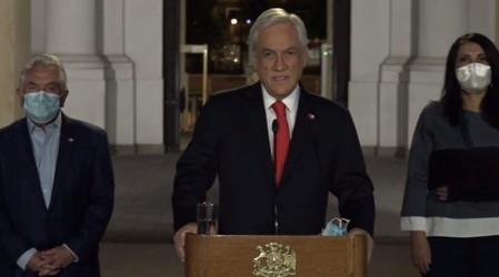 Presidente Piñera confirma que enviará proyecto de ley para postergar las elecciones por 5 semanas