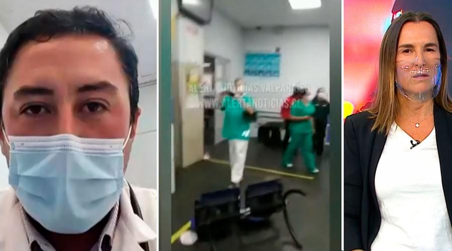 Dos sujetos destruyen instalaciones del Hospital Van Buren para exigir ser atendidos