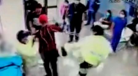 Dos funcionarios agredidos: Video muestra pelea en el interior del Hospital de Chillán