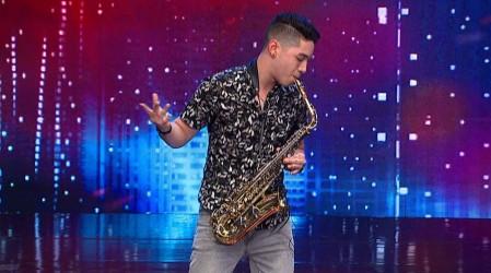 Carlos Ríos hizo vibrar al jurado con la melodía de su saxofón