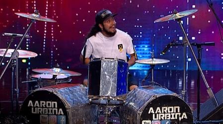 Aaron Urbina dejó al jurado con la boca abierta tras demostrar su gran talento en la batería