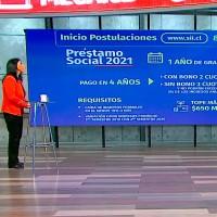 Ministra Karla Rubilar indica que el martes 18 podrá comenzar la solicitud de retiro del bono de $200 mil