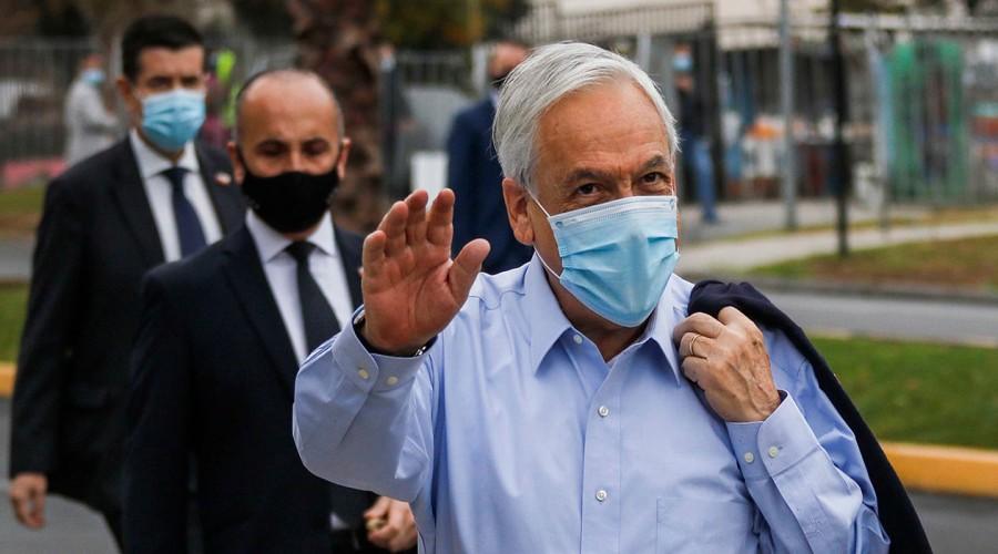 Megaelección 2021: El Presidente Sebastián Piñera emitió su voto en la comuna de Las Condes