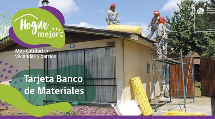 Estos son los montos de la Tarjeta Banco de Materiales del Minvu para la reparación de las viviendas