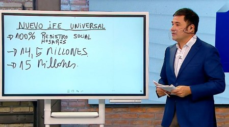 Roberto Saa explica con peras y manzanas quiénes recibirán el nuevo IFE Universal