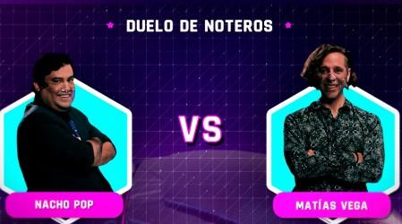 Nacho Pop y Matías Vega: duelo de noteros en Torneo Mega Game ¿Quién será el gran ganador?