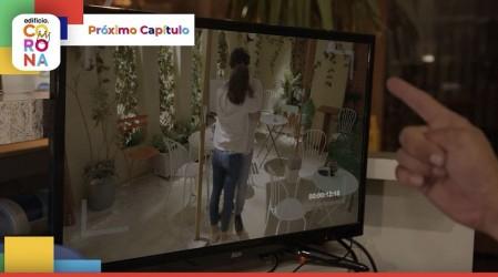 Avance: Carlitos verá en las cámaras el beso de Julián y Catalina