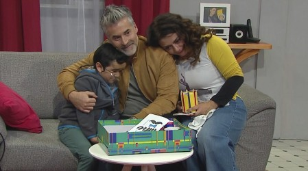 Miguelito celebró por primera vez el Día del Padre