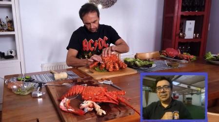 Langosta, centolla y jaiba mora: Rodrigo Sepúlveda se lució preparando estos tres ricos crustáceos