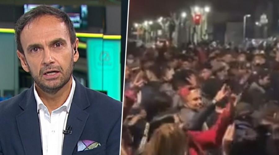 """""""¿Hace cuánto no se fiscaliza?"""": Rodrigo Sepúlveda reaccionó indignado ante masiva fiesta en Bellavista"""