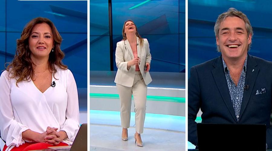 Tal como Raffaella Carrà: Periodista Marianne Schmidt imitó a la fallecida cantante al cierre de Meganoticias