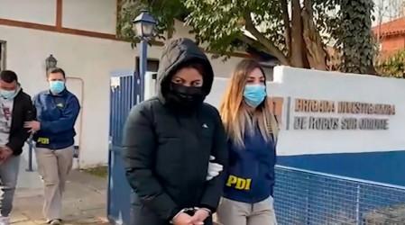 Hermana de Esteban Paredes fue detenida junto a banda especializada en robar autos de lujo