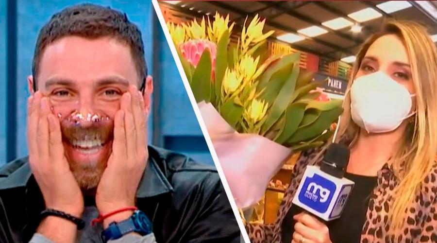 ¡Se puso rojo!: Admirador secreto le envió un ramo de flores a José Antonio Neme