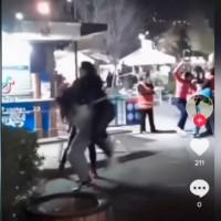 Mechoneos y golpes por saltarse la fila: Registran cómo asistentes a Fantasilandia pelean en pleno parque