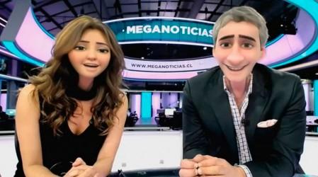 José Luis Repenning y Priscilla Vargas se convirtieron en tiernos personajes de Pixar durante el noticiero
