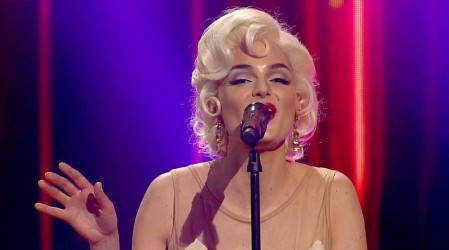 """""""Igualita a Marilyn"""": Pin Montané dejó al público con los pelos de punta tras su tributo a Marilyn Monroe"""