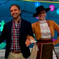Sepúlveda aprendió en vivo a bailar cueca en Meganoticias