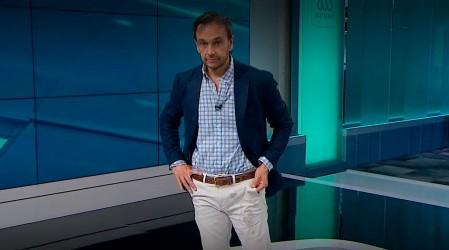 Rodrigo Sepúlveda vivió divertido momento con perrita que le orinó el pantalón