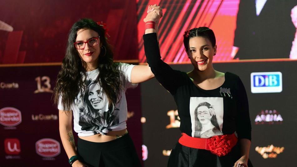 Las diputadas Camila Vallejo y Karol Cariola / Agencia Uno.